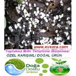 Organik Destekli Topraksız Bitki Yetiştirme Malzemesi